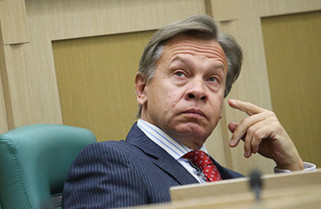 Председатель комитета Совета Федерации по информационной политике Алексей Пушков.