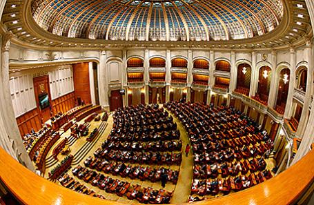 Заседание Парламента Румынии.