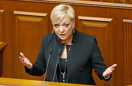 Глава Национального банка Украины Валерия Гонтарева.