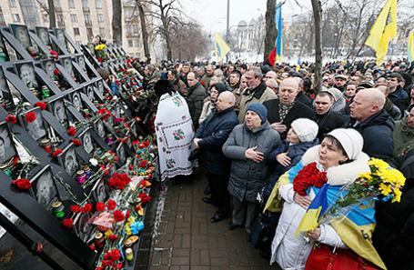 Памятные мероприятия в Киеве, посвященные третьей годовщине событий на Майдане.