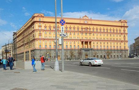 Вид на здание ФСБ РФ на Лубянской площади.
