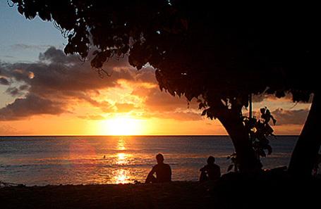 На одном из островов Кирибати.