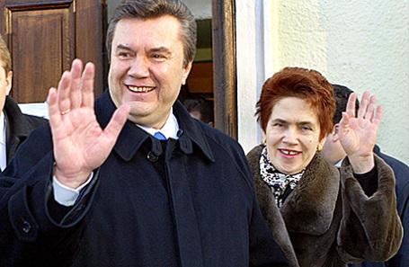 Виктор Янукович с бывшей супругой Людмилой.