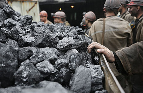 Горняки макеевской шахты «Холодная балка».