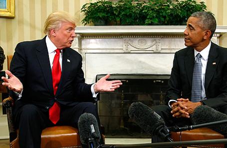Дональд Трамп и Барак Обама (слева направо).