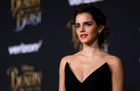Исполнительница главной роли в фильме «Красавица и чудовище» Эмма Уотсон на премьере в Лос-Анджелесе.