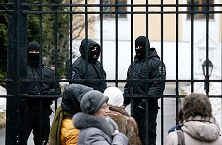 Обыски в Международном центре Рерихов в Москве, 7 марта 2017.