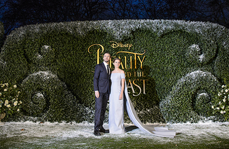 Эмма Уотсон и Дэн Стивенс на премьере картины «Красавица и чудовище» в  Лондоне.