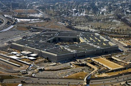 Вид на здание Пентагона США.