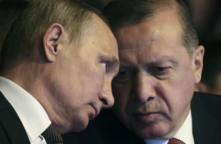 Президент РФ Владимир Путин и президент Турции Реджеп Эрдоган