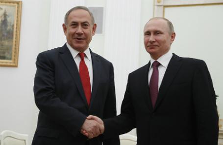 Биньямин Нетаньяху и Владимир Путин.