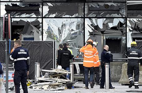 После взрыва в аэропорту Брюсселя, 23 марта 2016.