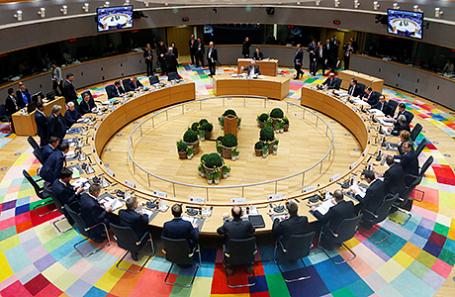 Саммит Евросоюза в Брюсселе, Бельгия.