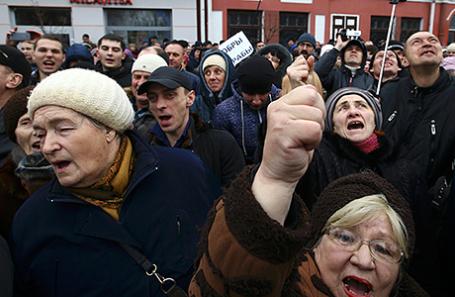 Протесты в Бобруйске, 12 марта 2017.