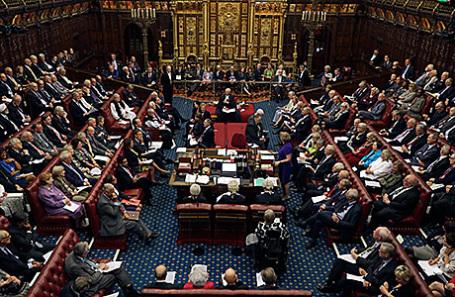 Заседание Палаты Лордов в Лондоне, Великобритания.