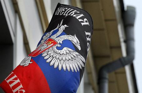 Флаг самопровозглашенной Донецкой народной республики.