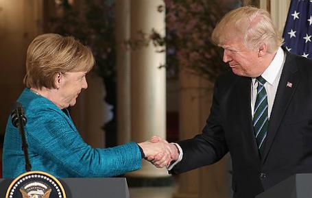 Визит канцлера Германии Ангелы Меркель в США.