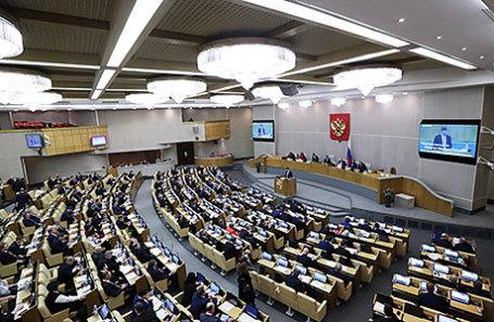 Пленарное заседание Государственной думы РФ.