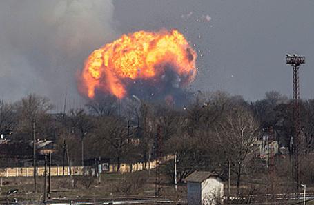 Взрыв на складе в Балаклее, Украина, 23 марта 2017.