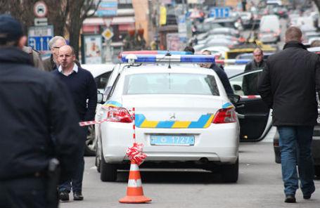 Полиция на месте убийства бывшего депутата Государственной думы РФ Дениса Вороненкова.