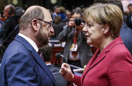 Мартин Шульц и Ангела Меркель (слева направо).