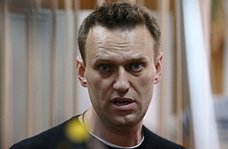 Оппозиционер Алексей Навальный на заседании по делу об административном правонарушении в Тверском суде, 27 марта 2017.