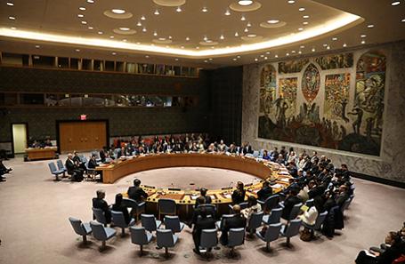 Заседание Совета Безопасности ООН в Нью-Йорке.