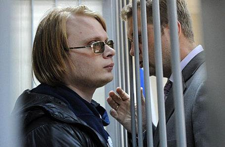 Преподаватель Дмитрий Богатов с адвокатом в Пресненском суде