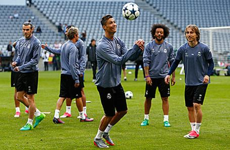 «Реал Мадрид» на тренировке.