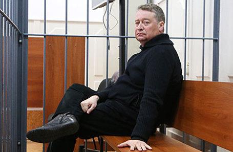Бывший губернатор Республики Марий Эл Леонид Маркелов, обвиняемый в получении взятки в размере более 235 млн рублей, перед рассмотрением ходатайства об избрании меры пресечения в Басманном суде.