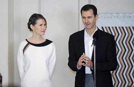 Башар Асад и его супруга Асма.