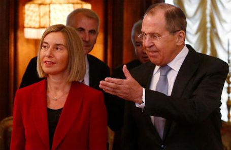 Федерика Могерини и Сергей Лавров.