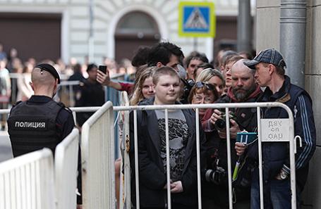 Во время несанкционированной акции, организованной общественной организацией «Открытая Россия».