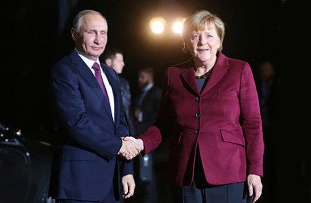 Президент России Владимир Путин и канцлер Германии Ангела Меркель.