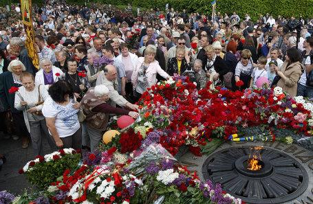 Празднование Дня Победы в Киеве.