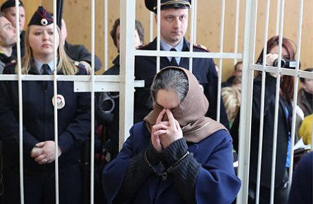 Бывший президент ООО «Внешпромбанк» Лариса Маркус, обвиняемая в хищении более 113,5 млрд рублей, во время оглашения приговора в Хамовническом суде.