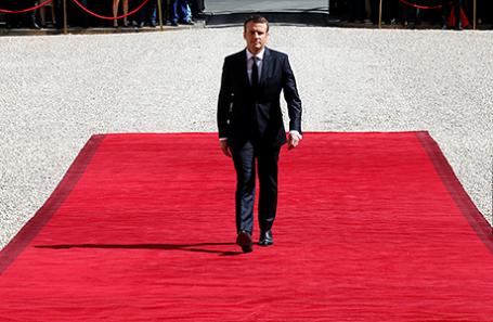 Эмманюэль Макрон на инаугурации в Париже.