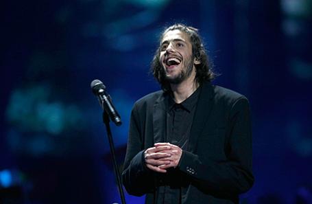 Сальвадор Собрал после выступления на «Евровидении».