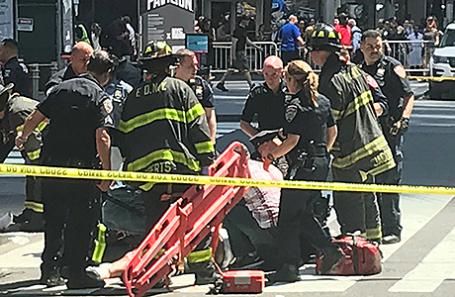 На месте происшествия в Нью-Йорке.