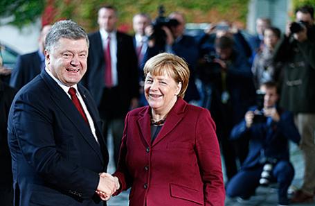 Президент Украины Петр Порошенко и канцлер Германии Ангела Меркель.