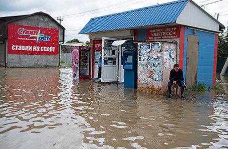 Наводнение в селе Левокумка Ставропольского края.