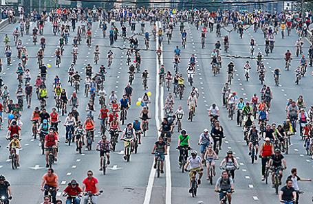 Московский велопарад собрал рекордные 40 тыс. участников