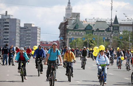 Участники Большого Велопарада-2017.