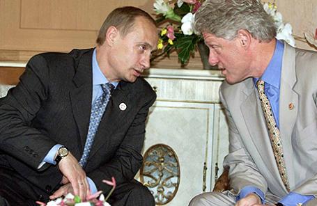 Владимир Путин и Билл Клинтон, 2000 год.