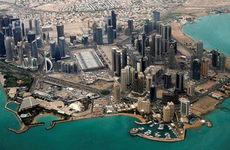 Вид на дипломатический район Дохи.