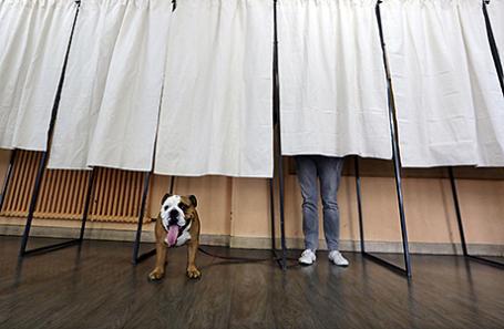 Голосование в Ницце, Франция.