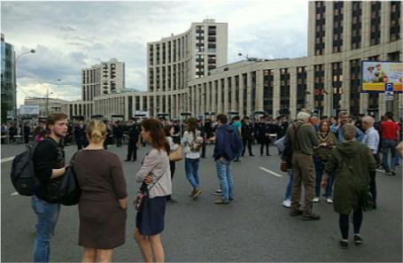 Москва, 12 июня 2017 года, митинг на проспекте Сахарова