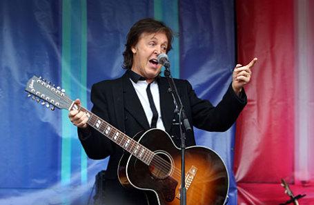 Британский музыкант Пол МакКартни.