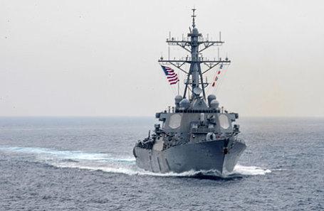 Американский эсминец USS Fitzgerald.
