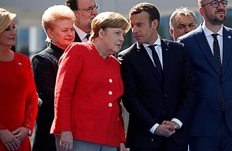 Эмманюэль Макрон и Ангела Меркель.
